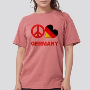Peace Love Germany Womens Comfort Colors Shirt