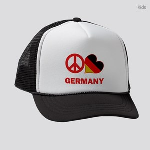 Peace Love Germany Kids Trucker hat