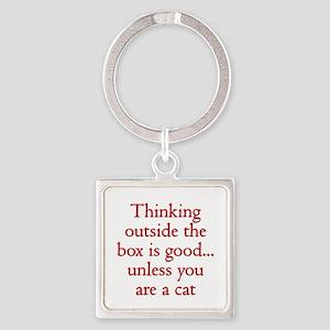 Cat Thinking Keychains