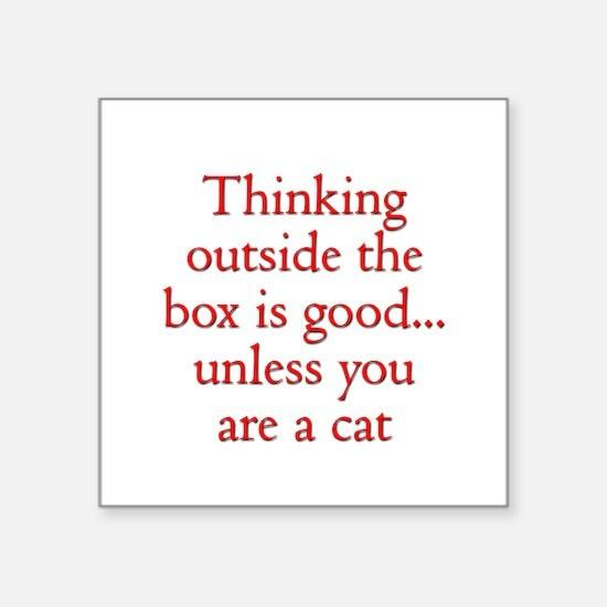 Cat Thinking Sticker