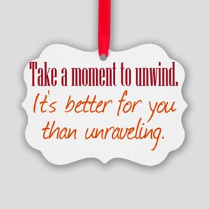 Unwind or Unravel Ornament
