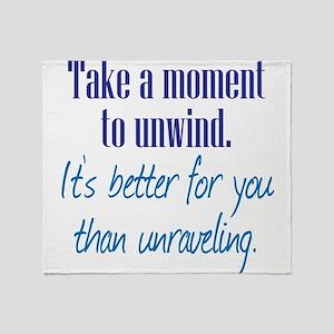 Unwind or Unravel Throw Blanket
