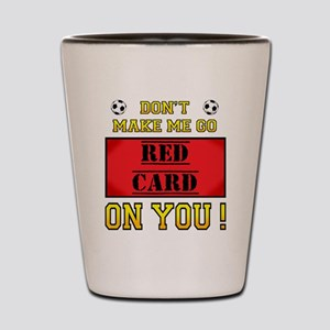 Red Card Shot Glass