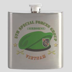 SOF - 5th SFG Beret - Vietnam. Flask