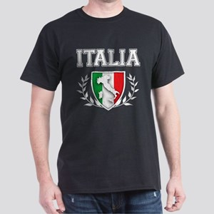 Retro Italian Flag Crest T-Shirt