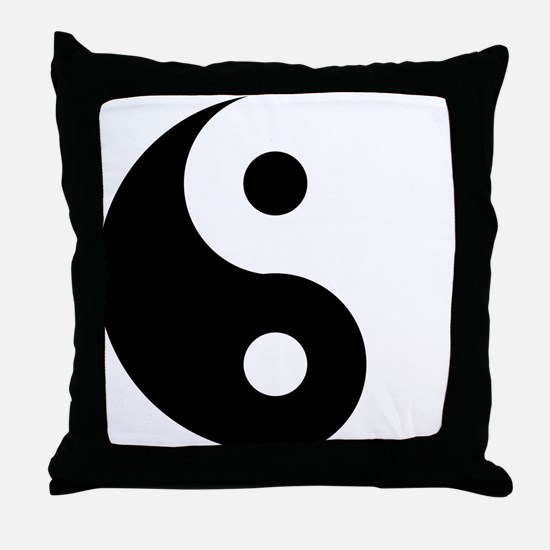 Yin & Yang (Traditional) Throw Pillow