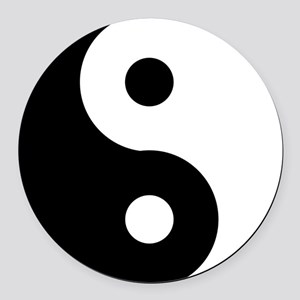 Yin & Yang (Traditional) Round Car Magnet