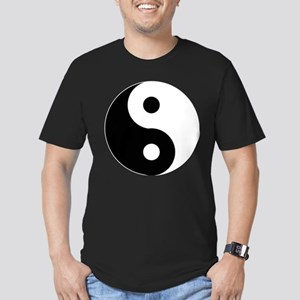 Yin & Yang (Traditional) Men's Fitted T-Shirt (dar