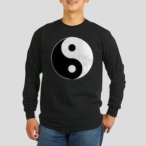 Yin & Yang (Traditional) Long Sleeve Dark T-Shirt