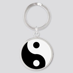 Yin & Yang (Traditional) Round Keychain