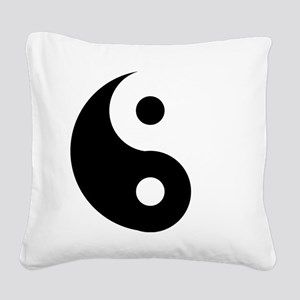 Yin & Yang (Traditional) Square Canvas Pillow
