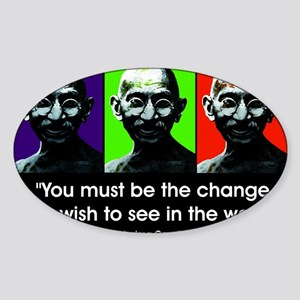 Be the change... Rectangle Sticker