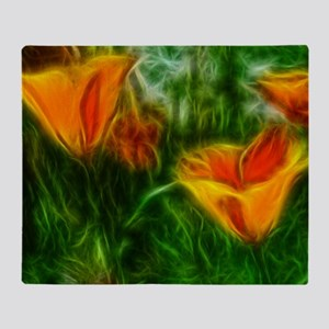 Artistic Field Poppies Throw Blanket