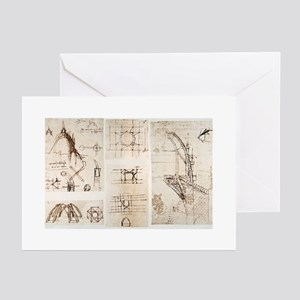 Leonardo's designs for Milan Cathedr Greeting Card