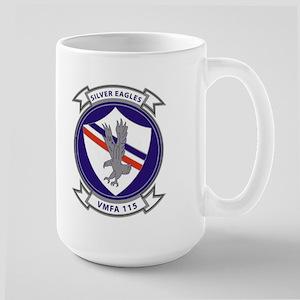 VMFA 115 Silver Eagles Large Mug