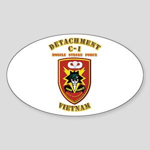 SOF - Detachment C-1 MSF - Vietnam Sticker (Oval)