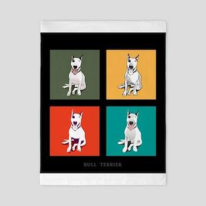bull terrier Twin Duvet Cover