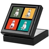 Bull terrier Square Keepsake Boxes