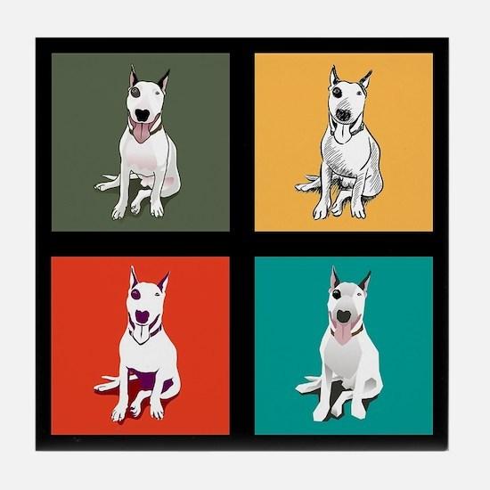 bull terrier Tile Coaster