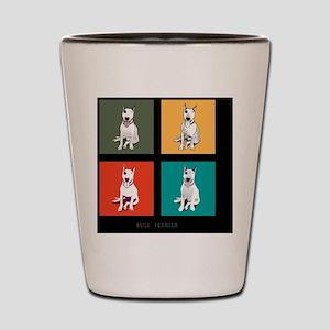 bull terrier Shot Glass