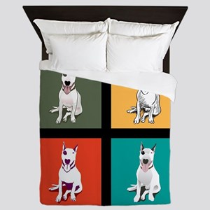 bull terrier Queen Duvet
