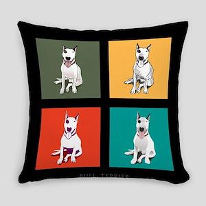 bull terrier Everyday Pillow