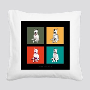 bull terrier Square Canvas Pillow