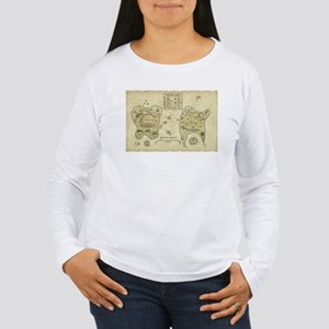 Map of Otherealm Women's Long Sleeve T-Shirt