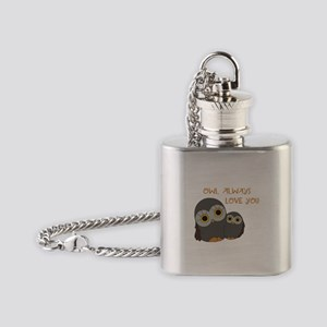 Owl Always Love You Flask Necklace