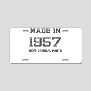 MADE IN 1957 100% ORIGINAL PARTS Aluminum License