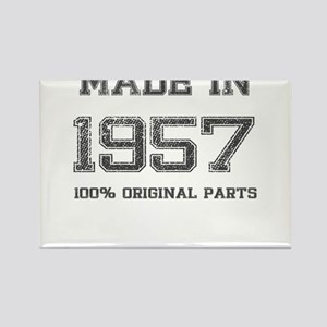 MADE IN 1957 100% ORIGINAL PARTS Rectangle Magnet