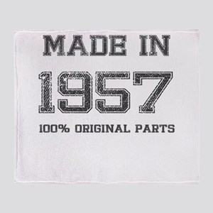 MADE IN 1957 100% ORIGINAL PARTS Throw Blanket