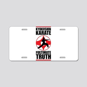 Kyokushin karate 3 Aluminum License Plate