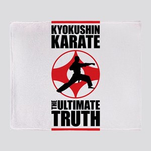 Kyokushin karate 3 Throw Blanket