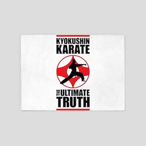 Kyokushin karate 3 5'x7'Area Rug