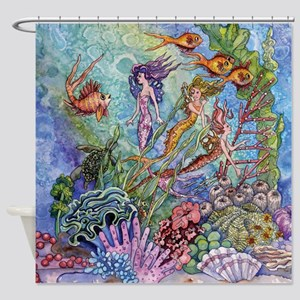 mermaid puzzel Shower Curtain