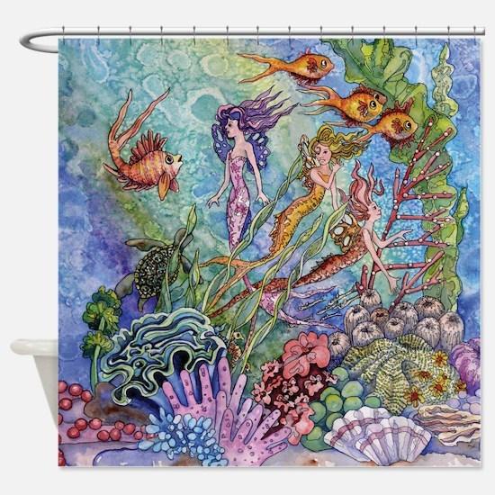 mermaid puzzel.jpg Shower Curtain
