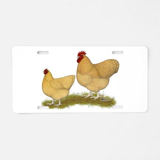 Orpington Lemon Cuckoo Chickens Aluminum License P
