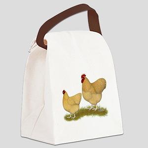 Orpington Lemon Cuckoo Chickens Canvas Lunch Bag