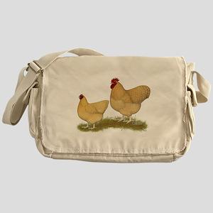 Orpington Lemon Cuckoo Chickens Messenger Bag