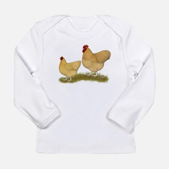 Orpington Lemon Cuckoo Chickens Long Sleeve T-Shir