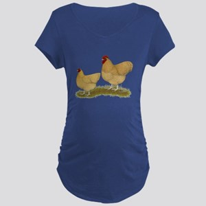 Orpington Lemon Cuckoo Chickens Maternity T-Shirt
