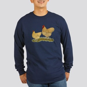 Orpington Lemon Cuckoo Chickens Long Sleeve T-Shir