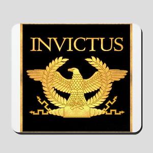 Invictus Gold Eagle on Black Mousepad
