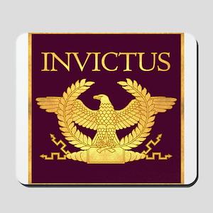 Invictus Gold Eagle on Purple Mousepad