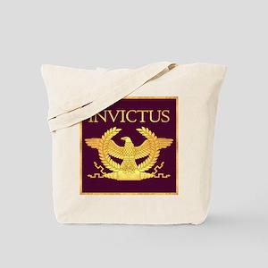 Invictus Gold Eagle on Purple Tote Bag