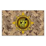 HFPACK Gold Compass Insignia Sticker Camo
