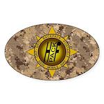 HFPACK Gold Compass Insignia Desert Camo Sticker O