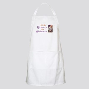 I'll be Gnome for Christmas BBQ Apron