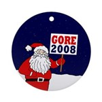 Santa Says Gore 2008! Ornament (Round)